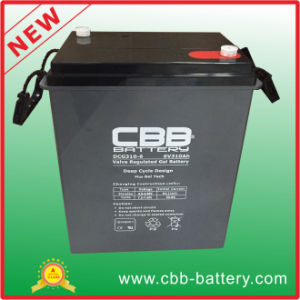 Deep Cycle Rechargeable Battery 6V310ah Sealed Lead Acid Gel Battery, 6V SLA VRLA Battery pictures & photos