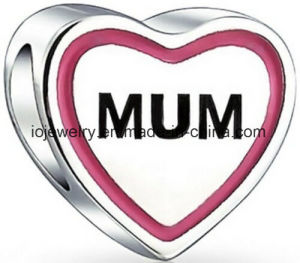 Mum Heart Bead Fits in Charm Bracelet pictures & photos
