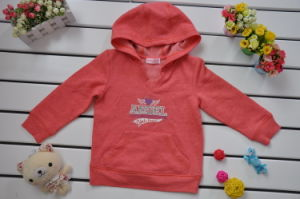 V-Neck Girls Hooded Long Sleeve T-Shirt pictures & photos