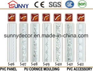 Silver Color PU Cornice Polyurethane Moulding Decorative Cornice Molding pictures & photos