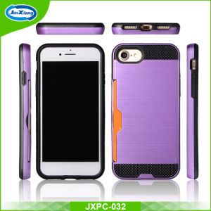 Hybrid PC TPU Card Slot Cell Phone Case Cover for iPhone 7 pictures & photos