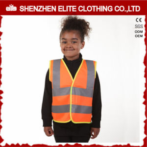 Roadway Warning Orange Kids Reflective Safety Vest Waterproof pictures & photos