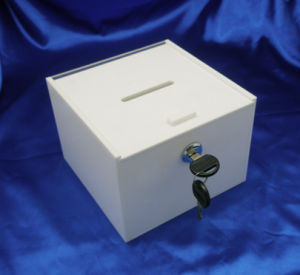 Customize Plexiglass Clear Acrylic Vote Donation Suggestion Box pictures & photos