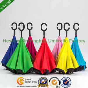 New Items Portable Handsfree Straight Reverse Inverted Umbrella (SU-0023FI) pictures & photos