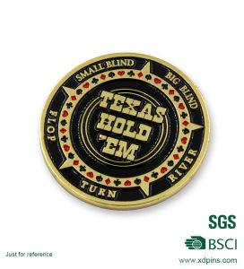 Rocket Aces Bullets Poker Logo Soft Enamel Souvenir Coins pictures & photos