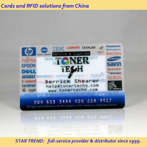 Salon Gift Card Made of Clear PVC with Embossing Number pictures & photos