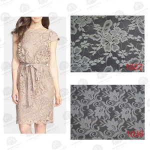 Nylon and Cotton Knitting Wholesale Lace Fabric