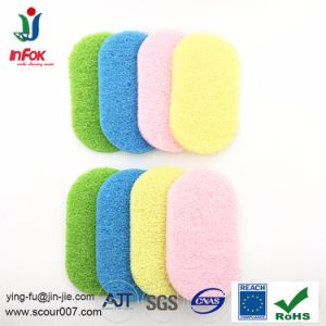 Colorful Nylon Bath Kitchen Cleaning Long Lasting Scouring Pad Sponge pictures & photos