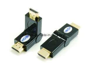 180 Degree Rotating HDMI Male to Male Adapter pictures & photos