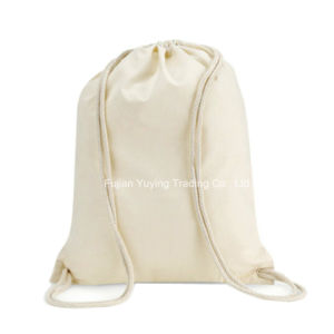 Promotional Reusable 100% Organic Drawstring Cotton Bag (CBG038) pictures & photos