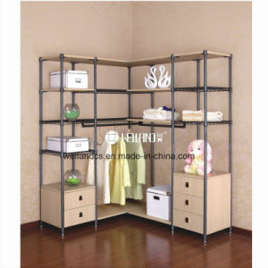 Multifunction Bedroom Clothes Storage Steel-Wooden Furniture pictures & photos