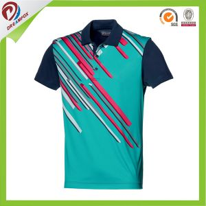 Factory Custom Made Beaded Cotton Mens Polo T Shirt pictures & photos