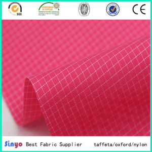 Oxford Nylon 210d PU Coating Ripstop Fabric pictures & photos