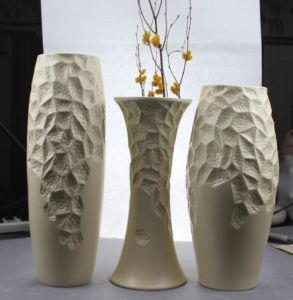Embossed Design Ceramic Artware Vase Set pictures & photos