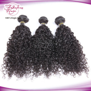 Double Weft Shedding Free Brazilian Curly Hair Extensions pictures & photos