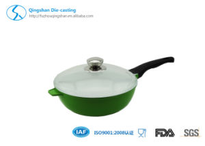 Aluminum Chinese Wok & Fry Pan with Ceramic Coating and Bakelite Handle pictures & photos