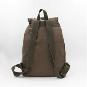 Brown Canvas Drawstring Backpack/ Customized Outdoors Shoulder Bags pictures & photos