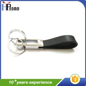 Cheap Custom Double-Ring Leather Key Chain pictures & photos