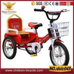 2016 High Quality New Design Cheaper Double Seats Child Tricycle pictures & photos