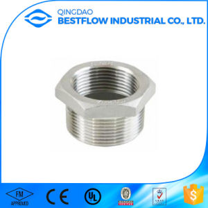 AISI 304 304L 316 316L Stainless Steel 150lbs Female and Male Screwed 90degree Reducing Elbow Casting Fitting pictures & photos