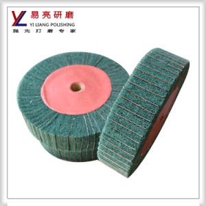 800 Grit Flap Wheels with Non Woven for Metal Surface Dirty Cleaning and Paint Removal pictures & photos