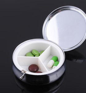Promotion Commerce Gift- Portable 3 Slots Foldable One Day Pill Box Medical Drug Medicine Storage Case Organizer