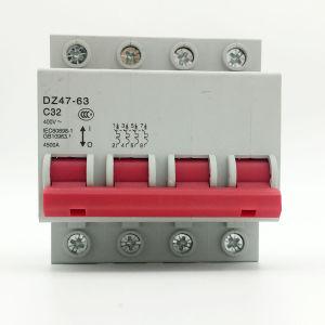 Dz47 Mini Ciciuit Breaker 4p MCB Fireproof pictures & photos