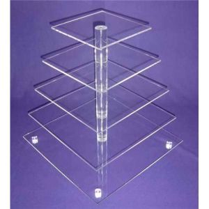 Perspex Pop Acrylic Product, Advertising Display Shelf for Cakes pictures & photos