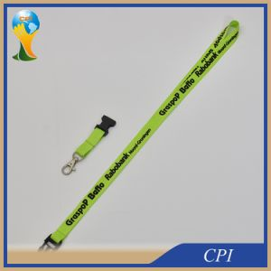 Narrow Lanyard Green Polyester for Bank pictures & photos