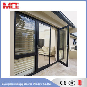Aluminum Casement Door with Blinds pictures & photos
