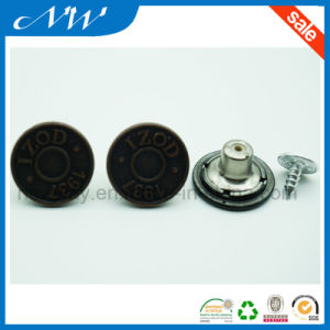 Stylize Metal Zinc Alloy Shank Button for Jeans pictures & photos