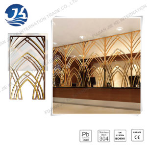 Luxury and Decorative 304 Stainless Steel Folding Screen for Hotel