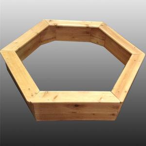 Outdoor Playground Wooden Hexagon Sandbox Sandpit