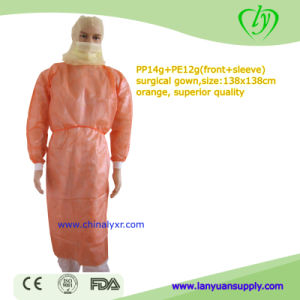 Polypropylene Coated Waterproof Isolation Gown Medical Gowns pictures & photos