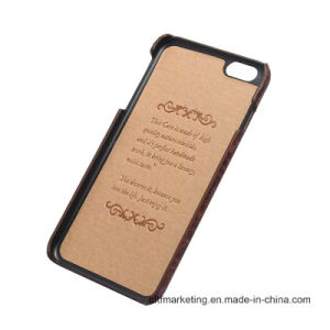 3D Genuine Leather Back Mobile Cell Phone Case for iPhone pictures & photos