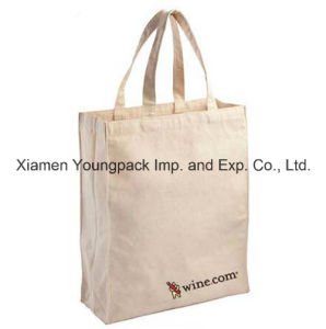 Fashion Customized Eco-Friendly Reusable White Organic Cotton Shopping Tote Bag 38X42cm pictures & photos