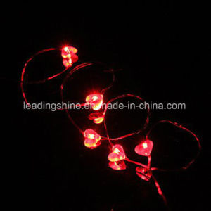 Red Heart Dating Wedding Firefly String Light Battery Powered for Valentine′s Wedding Decoration pictures & photos