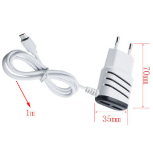 Round Plug New European Regulations Smart Charger/Plug with Two Dual USB Ports for Mobile Phone pictures & photos