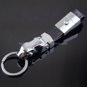 Latest Arrival Designer Metal Leather Car Key Holder with 4 Detachable Key Rings, Black pictures & photos