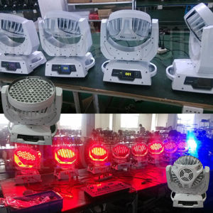 DMX Stage RGBW 108 3W LED Moving Head Wash pictures & photos