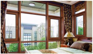 latest Design Double Tempered Glass Wood and Aluminum Casement Window pictures & photos