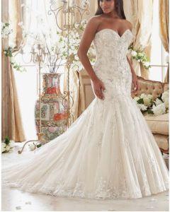 Plus Size Mermaid Train Bridal Wedding Dresses Ctd2015 pictures & photos