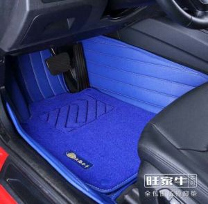 Car Carpet Mat 3D with Leatherette 5-Layer in Strips Embroidery pictures & photos