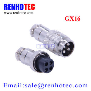 Waterproof IP55 Gx16 Circular Connector Aviation Cable Connector pictures & photos