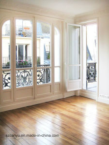 Wooden French Windor Wood Grain Finish Aluminum French Window pictures & photos