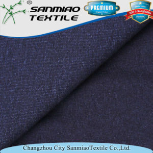 Indigo Spandex Single Jersey Knit Denim Fabric