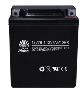 Motorcycle Battery 12V 7ah with CE UL Certificate Called 12V7b pictures & photos