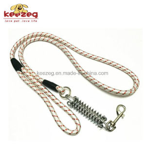 High Quality Dog Training Rope Leash with Buffer Spring/Nylon (KC0111) pictures & photos