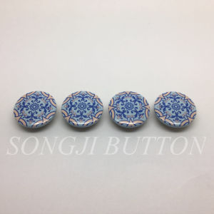 Four Color Printed at The Metal Button for Garment Accessory pictures & photos