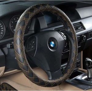 Car Steering Wheel Cover Ecological Leather-Golden pictures & photos